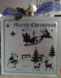 Merry Christmas met arreslee en rendieren