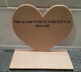 Hart op voet H=20x18 V=20x10