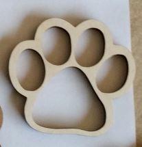 Hondenpoot 6cm 4mm multiplex