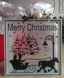 Merry Christmas met paardenkoets