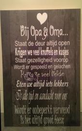Bij Opa en Oma..(behang)