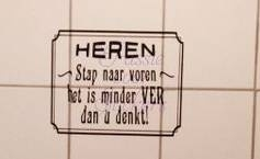 Sticker voor urinoir