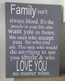 Family isn't always blood