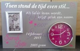 Toen stond de tijd even stil...Als liefde leven wordt....40x60cm