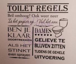 Toilet Regels Dames