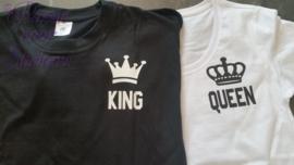 King & Queen shirtjes met eigen nr