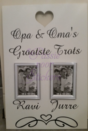 Opa & Oma's grootste trots 2 kinderen 40x60cm