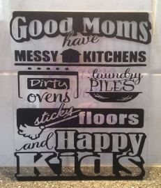 Plexiglas 20x25cm Good moms