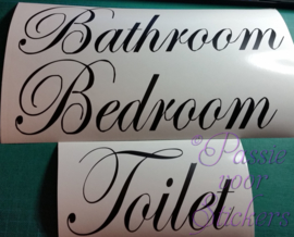 Set van Bathroom, Bedroom en Toilet