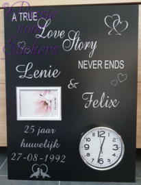 A true love story never ends..60x80cm