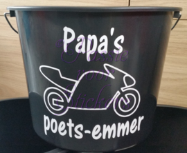 Papa's poetsemmer met motor