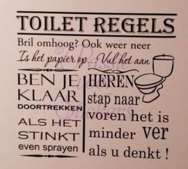 Toilet Regels Heren