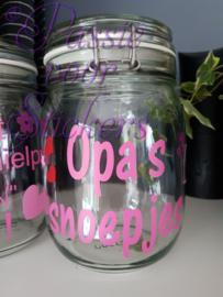 Snoeppot Opa's snoepjes