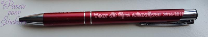 Rode pen met tekst, Bedankt voor dit schooljaar 2020/2021