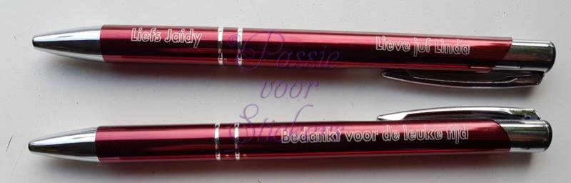Rode pen met tekst - Bedankt voor de leuke tijd