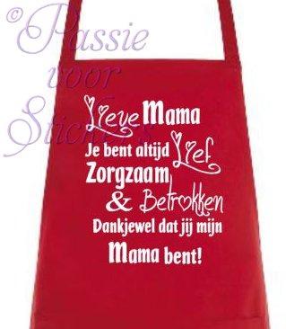 Schort Lieve Mama/Oma