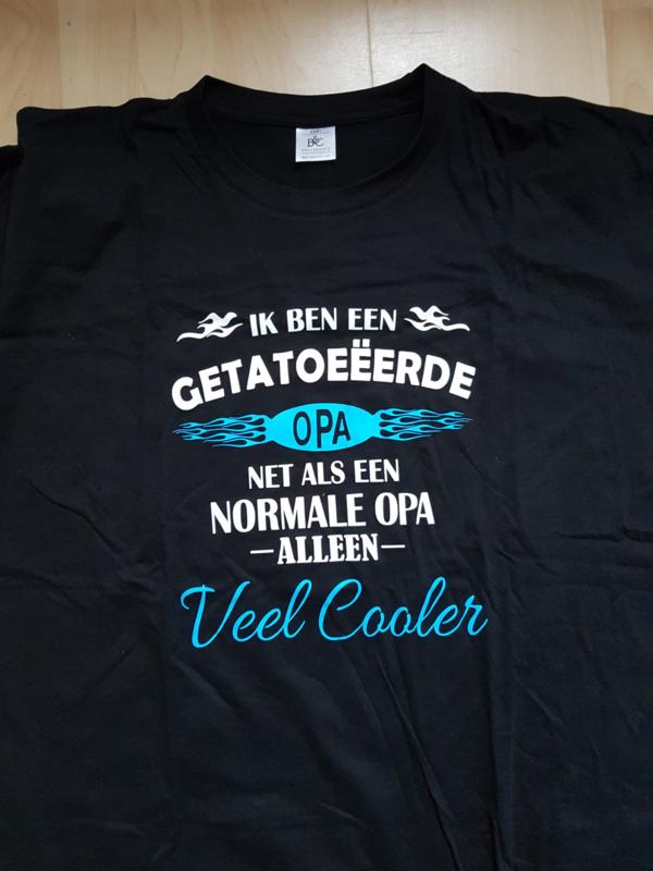T-shirt getatoeëerde opa MAAT XXXL
