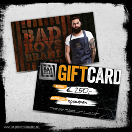GIFTCARD T.W.V. €250,-