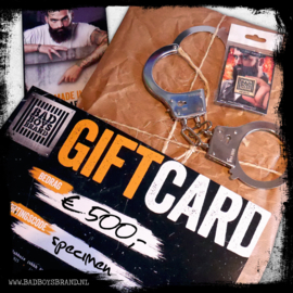GIFTCARD T.W.V. €500,-
