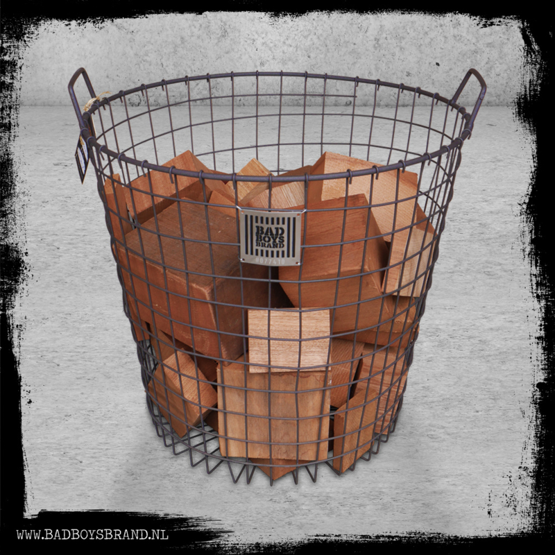 HEAVY METAL BASKET (WITH WOOD)