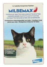 Milbemax tablet ontwoming kat/kitten 2tab.