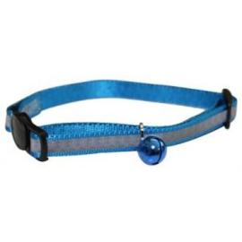 Happypet reflecterende kattenhalsband blauw