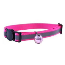 Happypet reflecterende kattenhalsband roze