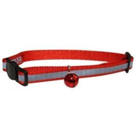 Happypet reflecterende kattenhalsband rood