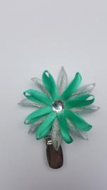 Showspeld groen/ zilver klein