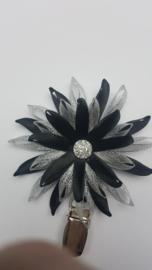 Showspeld zwart/ zilver groot