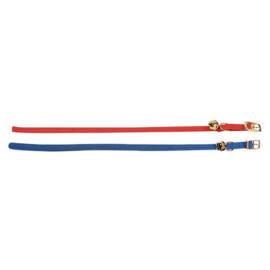 Flamingo elastisch halsband kat blauw