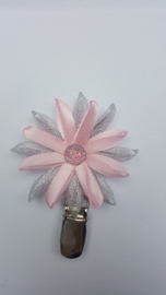 Showspeld zacht roze / zilver klein