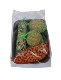 Winterpakket met net, staaf en 2 vetbollen