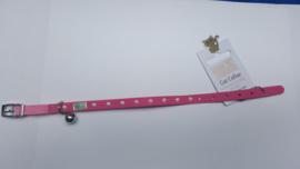 Halsband kat roze /wit