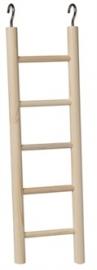Houten ladder 5 treden 25 cm