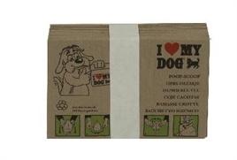 I love my dog papieren poepzakjes 10stuks