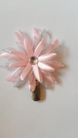 Showspeld zacht roze / zilver groot