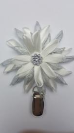 Showspeld wit / zilver groot