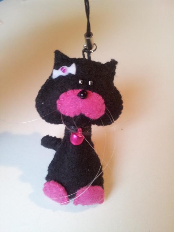 Freubelpoesje zwart / roze