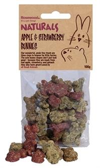 Rosewood Appel / Aardbeien Konijntjes 100 gr