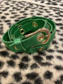 Ceintuur metallic groen