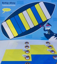Schip Ahoy - wisbordkaartjes