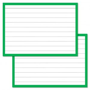 Flashcards groen