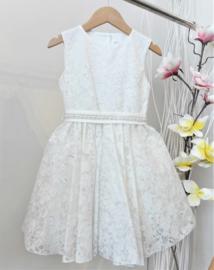 ALICE Pi. communie / bruidsmeisje jurk - wit, zilver