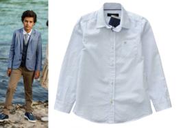 TERRE BLEUE overhemd gestreept - wit, blauw