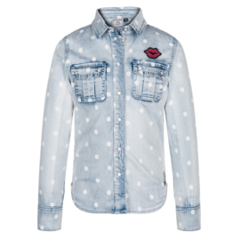 RETOUR blouse Lexie - lichtblauw
