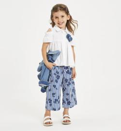 SARABANDA broek - wit, blauw