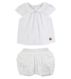 Carrement Beau t-shirt + bloomer - wit