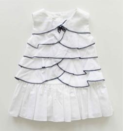 BABY GRAZIELLA jurk - wit, blauw