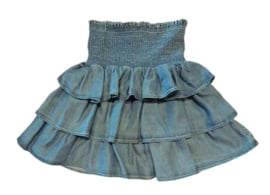 LITTLE REMIX rok - denim